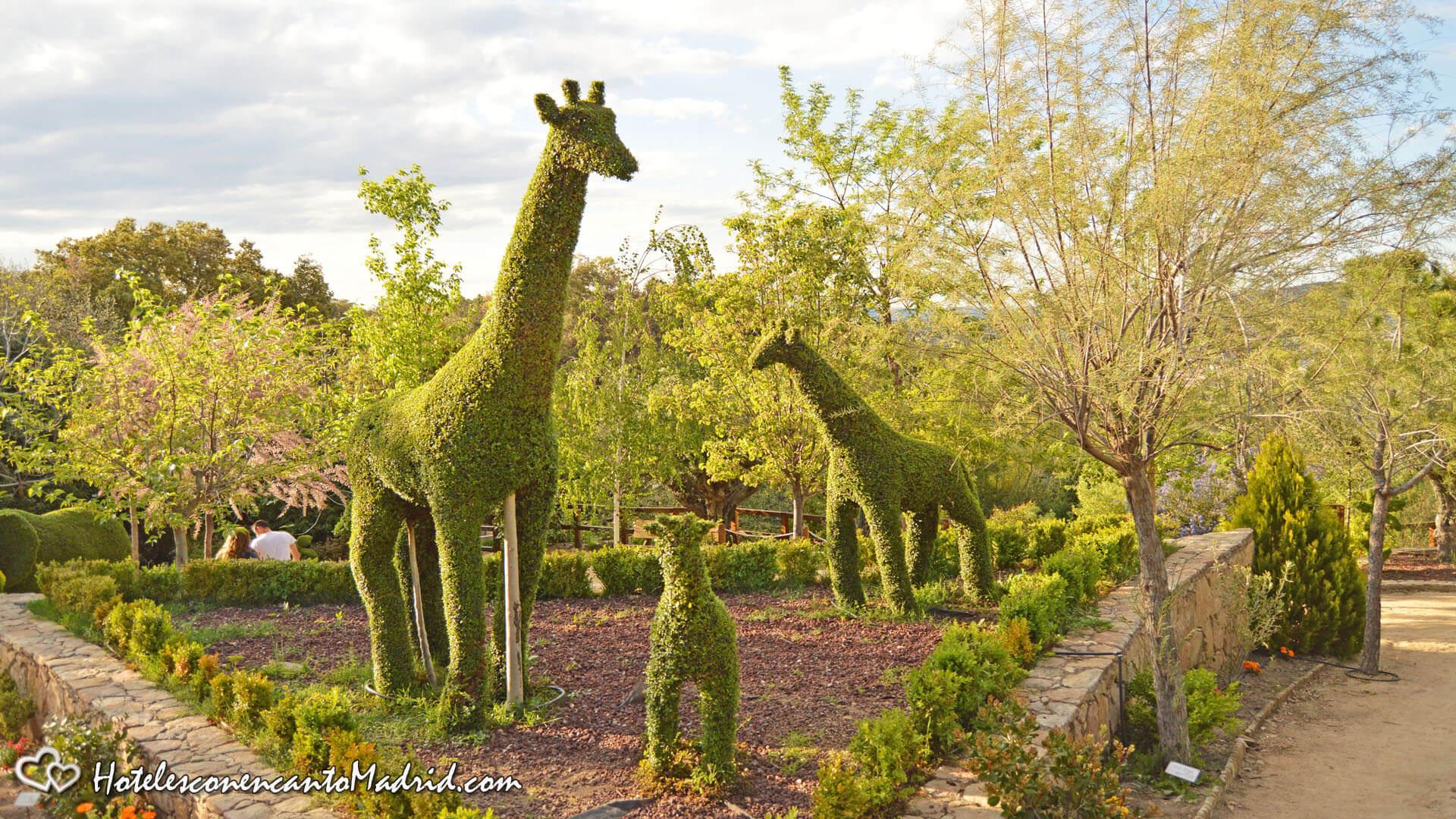 El Bosque encantado de Madrid - un jardin con figuras de setos