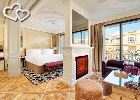 hoteles con chimenea en la habitacion en madrid